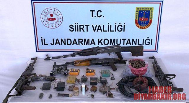 Siirt'te PKK'lılara Ait Çok Sayı Mühimmat Ele Geçirildi