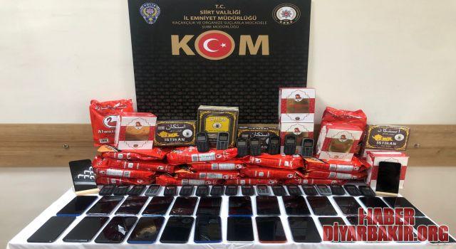 95 Bin Değerinde Kaçak Cep Telefonu Ele Geçirildi