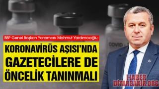 Koronavirüs Aşısı'nda Gazetecilere Öncelik Tanınmalı