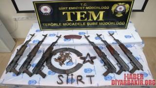 Siirt'te PKK'lılara Ait Çok Saydı Mühimmat Ele Geçirildi